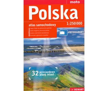 Polska atlas samochodowy (+32 przejazdowe plany miast)