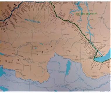 Mapa linii kolejowych Rosji, państw bałtyckich i WNP - 4 arkusze (127x87 cm)
