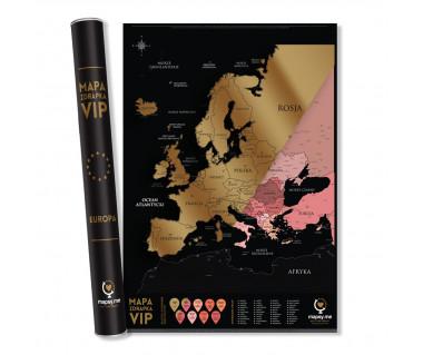 Europa mapa zdrapka vip