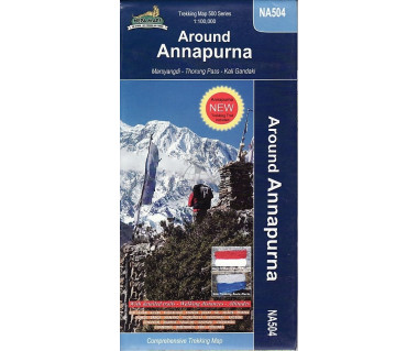Around Annapurna trekking map (NA504)