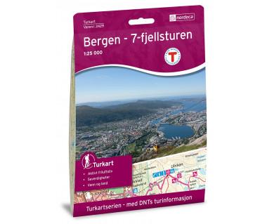 Bergen - 7-Fjellsturen 1:25.000