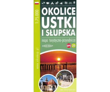Okolice Ustki i Słupska - mapa turystyczyno-przyrodnicza