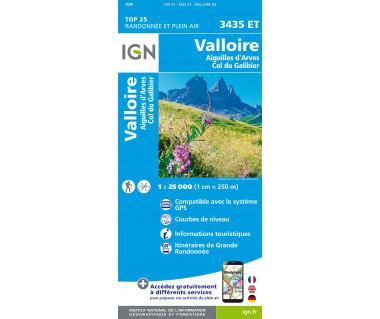 IGN 3435 ET Valloire / Aiguilles d'Arves / Col du Galibier