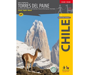 Torres del Paine travel&trekking map
