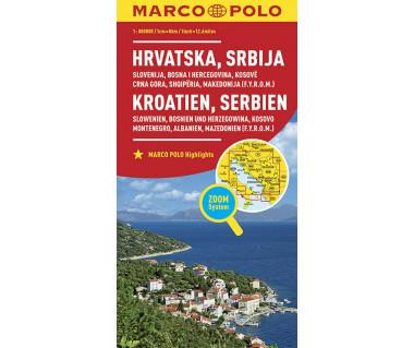 Croatia, Serbia, Slovenia, Bosnia, Kosovo, Montenegro, Albania, Macedonia