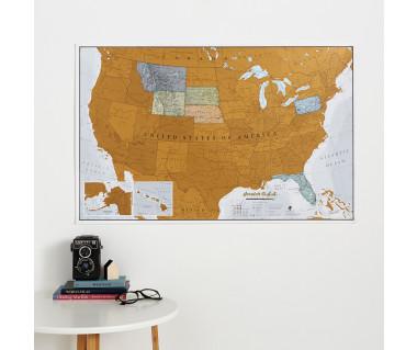 Scratch the USA (mapa zdrapka) 84,1x59,4 cm