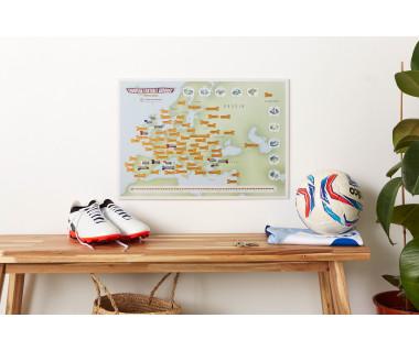 European Football Grounds (mapa zdrapka) 59,4x42 cm