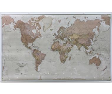 World Map (Antique Political) 136x84cm (mapa polityczna w tubie)