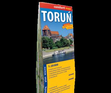Toruń plan laminowany