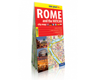 Rome and the Vatican city map