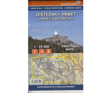 Jestedsky Hrbet mapa turystyczna