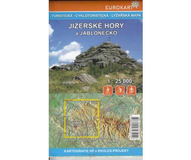 Jizerske Hory a Jablonecko mapa turystyczna