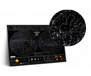Mapa Zdrapka The Star Map of the Sky