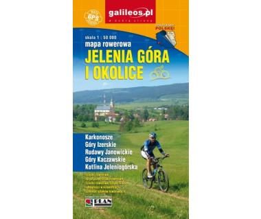 Jelenia Góra i okolice mapa rowerowa wodoodporna