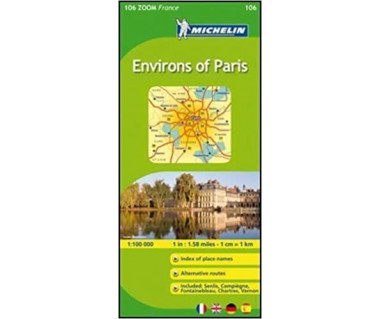 Paris Environs of (M 106 zoom) - Mapa