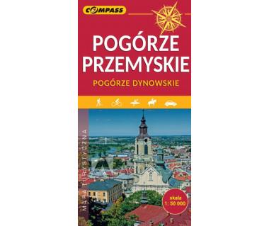 Pogórze Przemyskie, Pogórze Dynowskie mapa laminowana