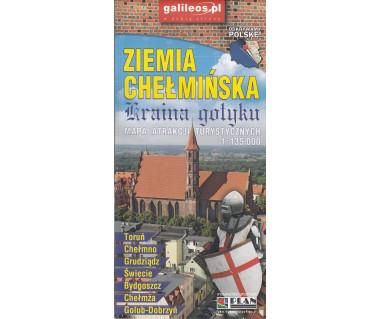Ziemia Chełmińska mapa atrakcji turystycznych