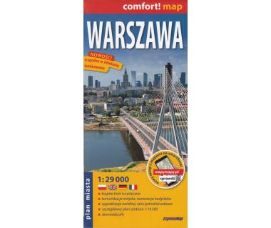 Warszawa plan laminowany