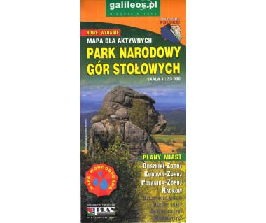 Park Narodowy Gór Stołowych mapa laminowana