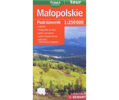 Małopolskie mapa podróżownik