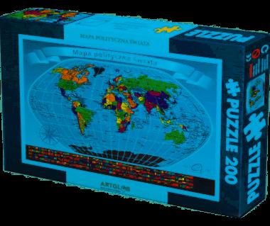 Puzzle 200 Świat mapa polityczna