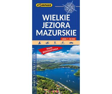 Wielkie Jeziora Mazurskie mapa laminowana