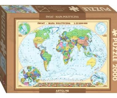 Puzzle 2000 Świat mapa polityczna