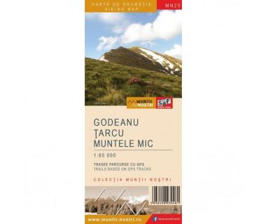 Godeanu-Tarcu-Muntele Mic harta de drumetie/hiking map