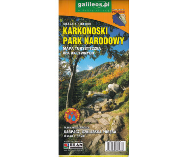Karkonoski Park Narodowy mapa dla aktywnych (wodoodporna)