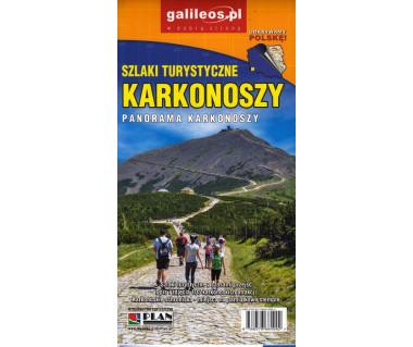 Szlaki turystyczne Karkonoszy - mapa panoramiczna