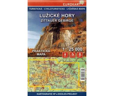 Lužické hory/Góry Łużyckie i Żytawskie mapa turystyczna