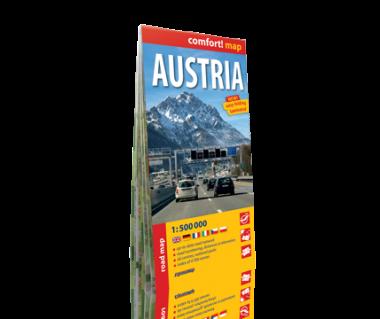 Austria mapa laminowana