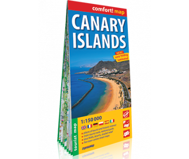 Canary Islands mapa laminowana