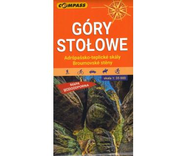 Góry Stołowe. Ardspassko-teplicke skaly, Broumovske steny mapa foliowana