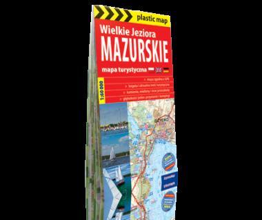 Wielkie Jeziora Mazurskie mapa foliowana