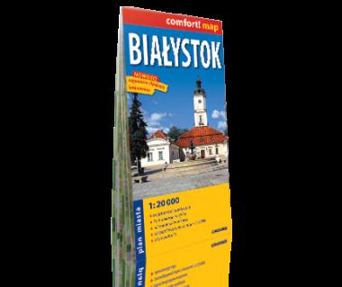 Białystok plan laminowany