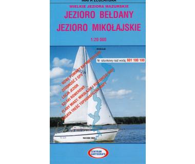 Jezioro Bełdany, Mikołajskie mapa żeglarska foliowana