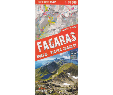Fagaras, Bucegi, Piatra Craiului trekking map