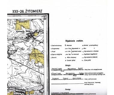 WIG 47/48 Żytomierz/ 47/47 Żytomierz Pn. (plansza) reedycja z 1922 i 1923 r.