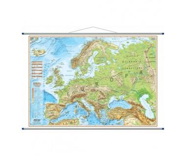 Europa mapa fizyczna 140x100 cm