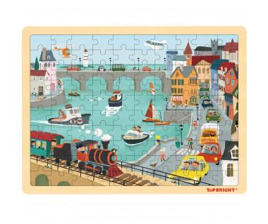 Puzzle drewniane port