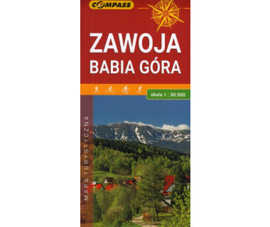 Zawoja, Babia Góra mapa laminowana