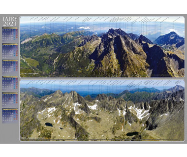 Kalendarz ścienny Tatry w panoramie 2021