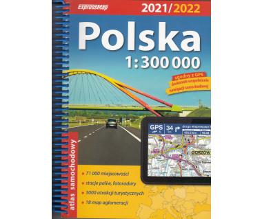 Polska atlas samochodowy na spirali