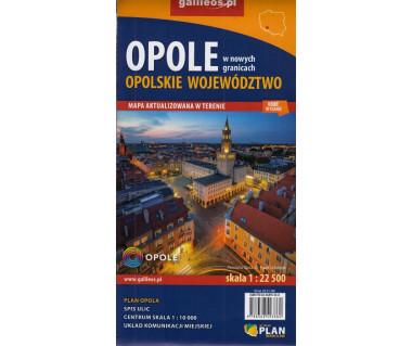 Opole, województwo opolskie mapa samochodowo-krajoznawcza