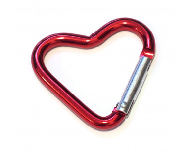 Karabinek BB-Sport serce k:czerwony