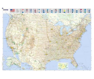 USA mapa laminowana 100x144 cm
