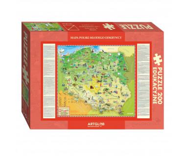 Puzzle 200 Mapa Polski Młodego Odkrywcy