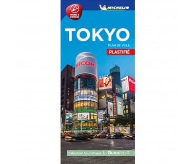 Tokyo street map laminated
