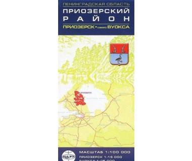 Rejon priozierski, plan miasta Prioziersk, jezioro Wuoksa
